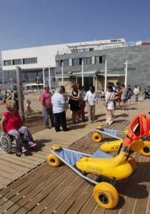 Instalaciones del servicio de playa accesible