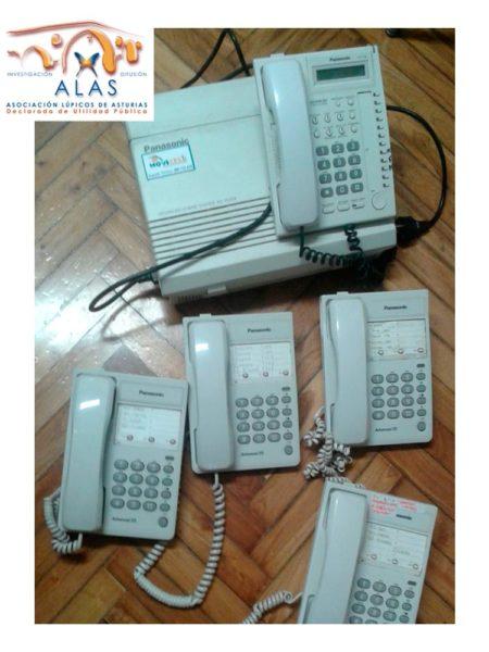 Centralita y telefonos