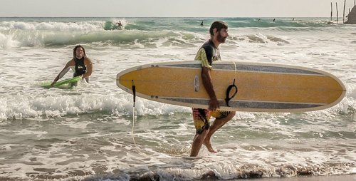 Surf en la playa