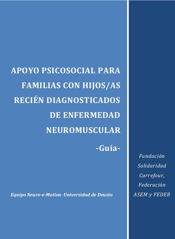 PORTADA APOYO PSICOSOCIAL PARA FAMILIAS CON HIJOS/AS RECIÉN DIAGNOSTICADOS DE ENFERMEDAD NEUROMUSCULAR