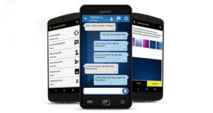 Blappy permite la comunicación chat vía bluetooth entre dos personas con diversidad funcional. / UC3M