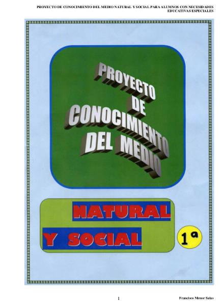 proyecto conocimiento medio natural social nivel 1