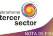 nota de prensa Plataforma Tercer Sector