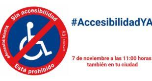 #AccesibilidadYA también en tu ciudad