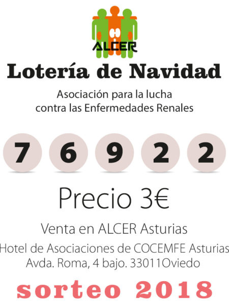 Lotería ALCER Asturias Nº 76922