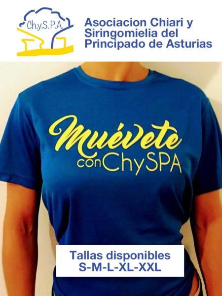 """Camiseta solidaria """"muévete ChysPA"""