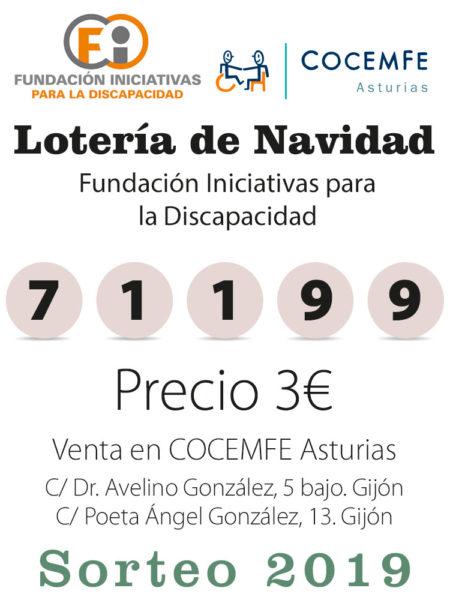 Número de la lotería 71199, precio 3 euros