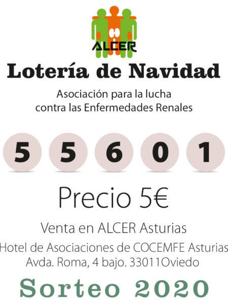 Numero de la lotería de Navidad Alcer Asturias