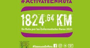 Número con los kilómetros recorridos 1824