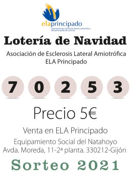 Número de lotería de Ela Principado 70253